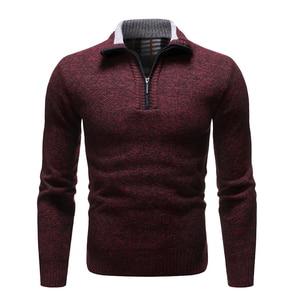 Image 5 - NEGIZBER 2019 새로운 가을 겨울 남성 스웨터 솔리드 슬림 피트 풀오버 남성 스웨터 캐주얼 두꺼운 양털 터틀넥 스웨터 남성