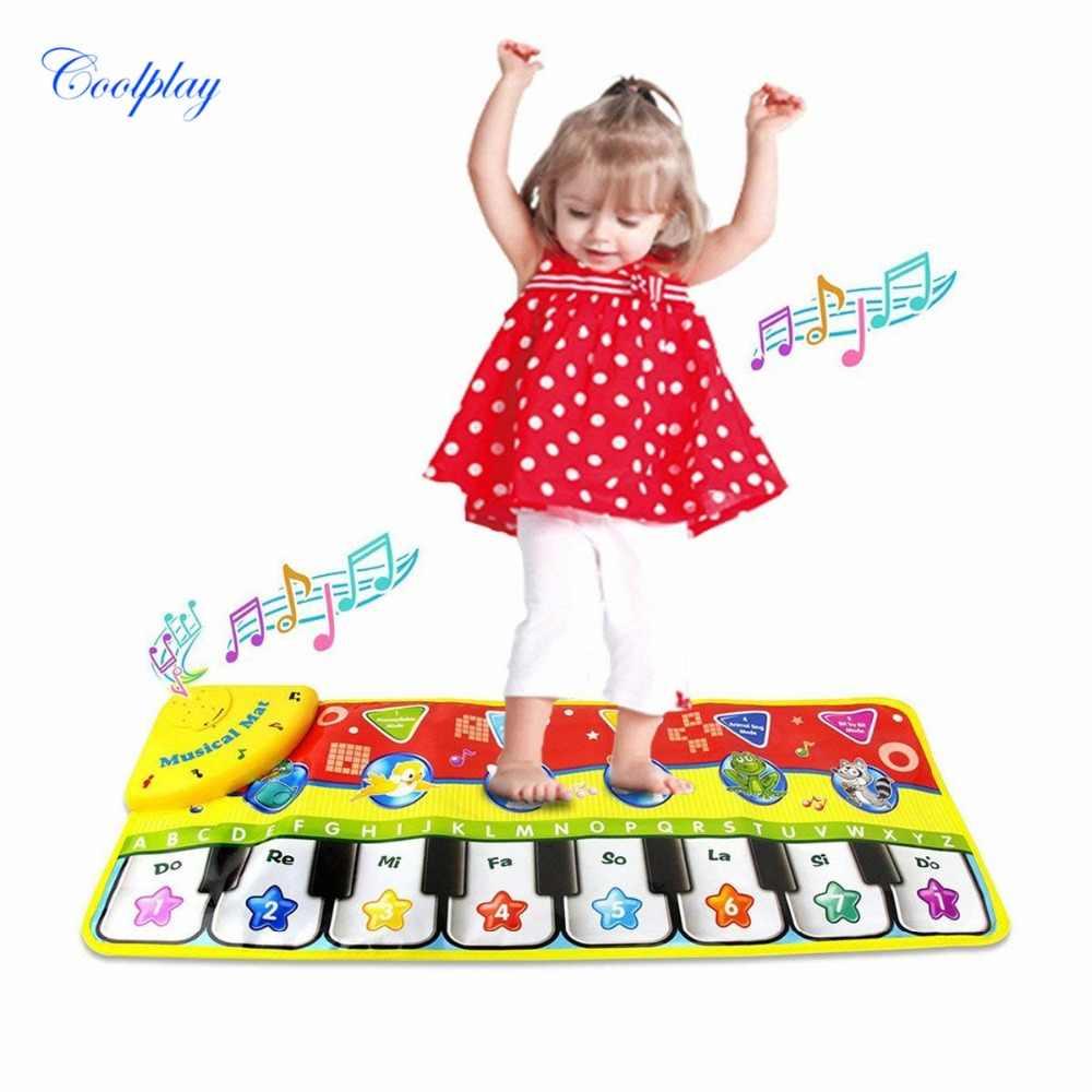 Permainan Keren 70X27 Cm Bayi Piano Tikar Musik Karpet Baru Lahir Anak Sentuhan Bermain Game Musik Karpet Tikar Pendidikan mainan}