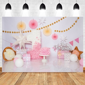 Birthday Backdrop Photography Princess Party Decoration Curtain Banner Photo Studio Photo Background Baby Shower Photophone Prop