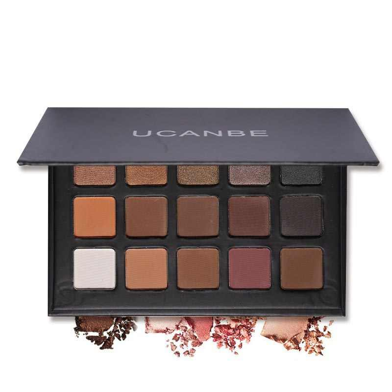 Fashion 15 Color Earth Color Glitter Eyeshadow Makeup Palette Matte Pigment Makeup Nude Eye Shadow Shimmer Cosmetics