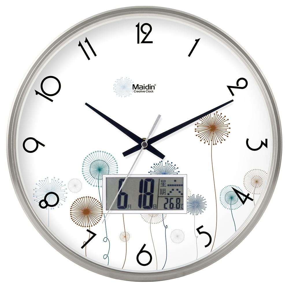 Digital Wall Clock Modern Design Led Calendar Living Room Kitchen Silent Clock Wall Watch Mechanism Duvar Saati Home Decor SC255