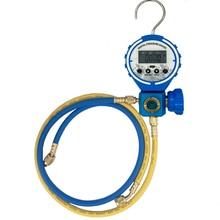 Pressure Gauge Refrigeration Digital Vacuum Pressure Manifold Tester Meter HVAC Temperature Tester With sight glass and Hose