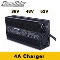 Carregador rápido 36V 48 4A V 42 52V carregador De bateria de Lítio 54.6V 58.8V bateria li ion pacote carregador ebike bicicleta elétrica DC XLR RCA|Acessórios para bicicleta elétrica| |  -