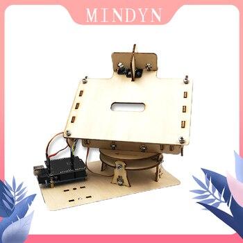 DIY wooden handmade electronic Dual Axis Smart Solar Tracker Kit single axis sun tracker circuit board of solar tracker