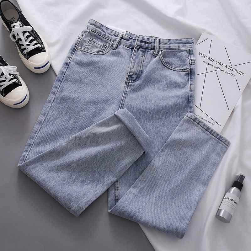 Lism Pantalones Vaqueros Para Mujer Pantalon Suelto De Ocio Informal De Cintura Alta Vintage Rectos Estilo Coreano Faciles De Combinar Pantalones Y Pantalones Capri Aliexpress