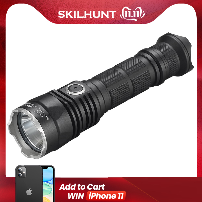 2017 New SKILHUNT S2 PRO CREE XP-L HD or HI LED USB rechargeable tactical 1250 Lumens / 1100 Lumens flashlight