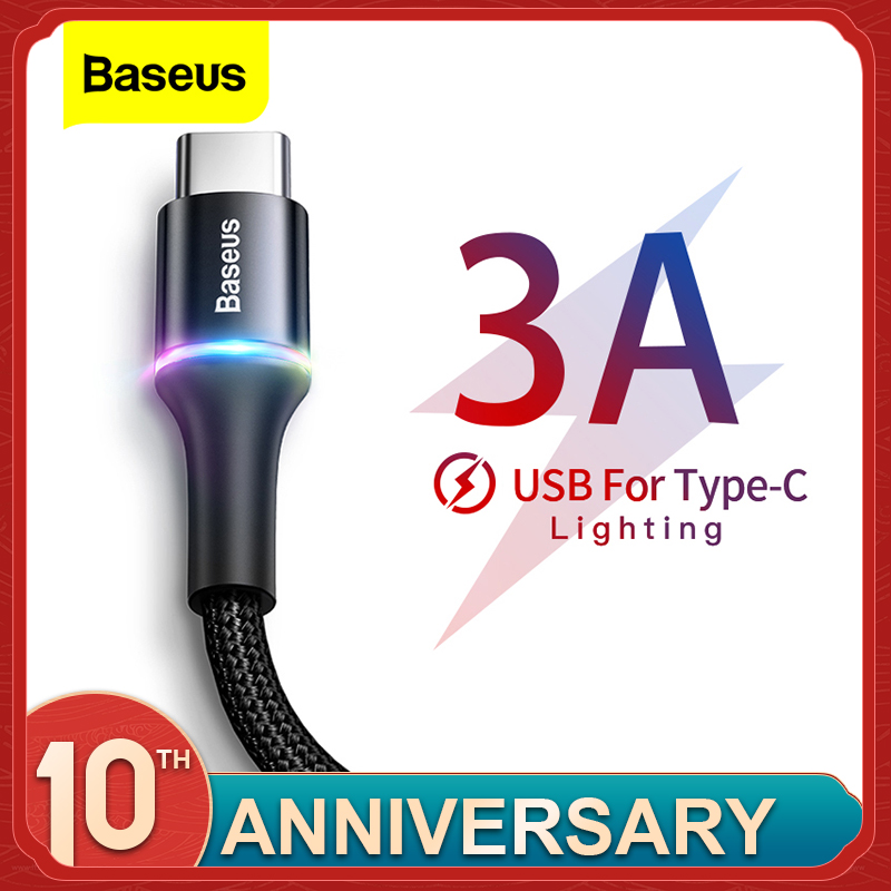 Baseus C-Cable Charger Wire-Cord Mobile-Phone-Usbc Usb-Type Xiaomi Samsung S20 S10 Plus title=