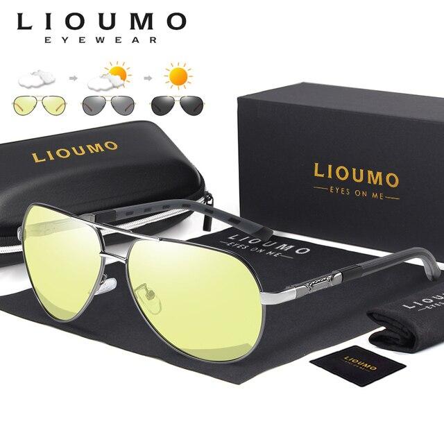 Aviação óculos de sol homem polarizado photochromic dia noite condução óculos de sol para piloto mulher uv400 gafas de sol hombre