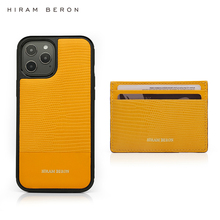 Hiram Beron Custom Name for Iphone 12 11 XR XS PRO MAX Luxury Leather Case Mobile Cover with Card Holder Dropship