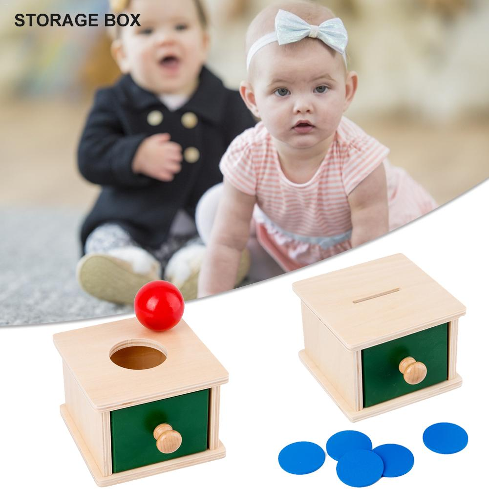 New Wooden Educational Toy Professional Permanent Target Box Montessori Material Object Permanence Box With Tray