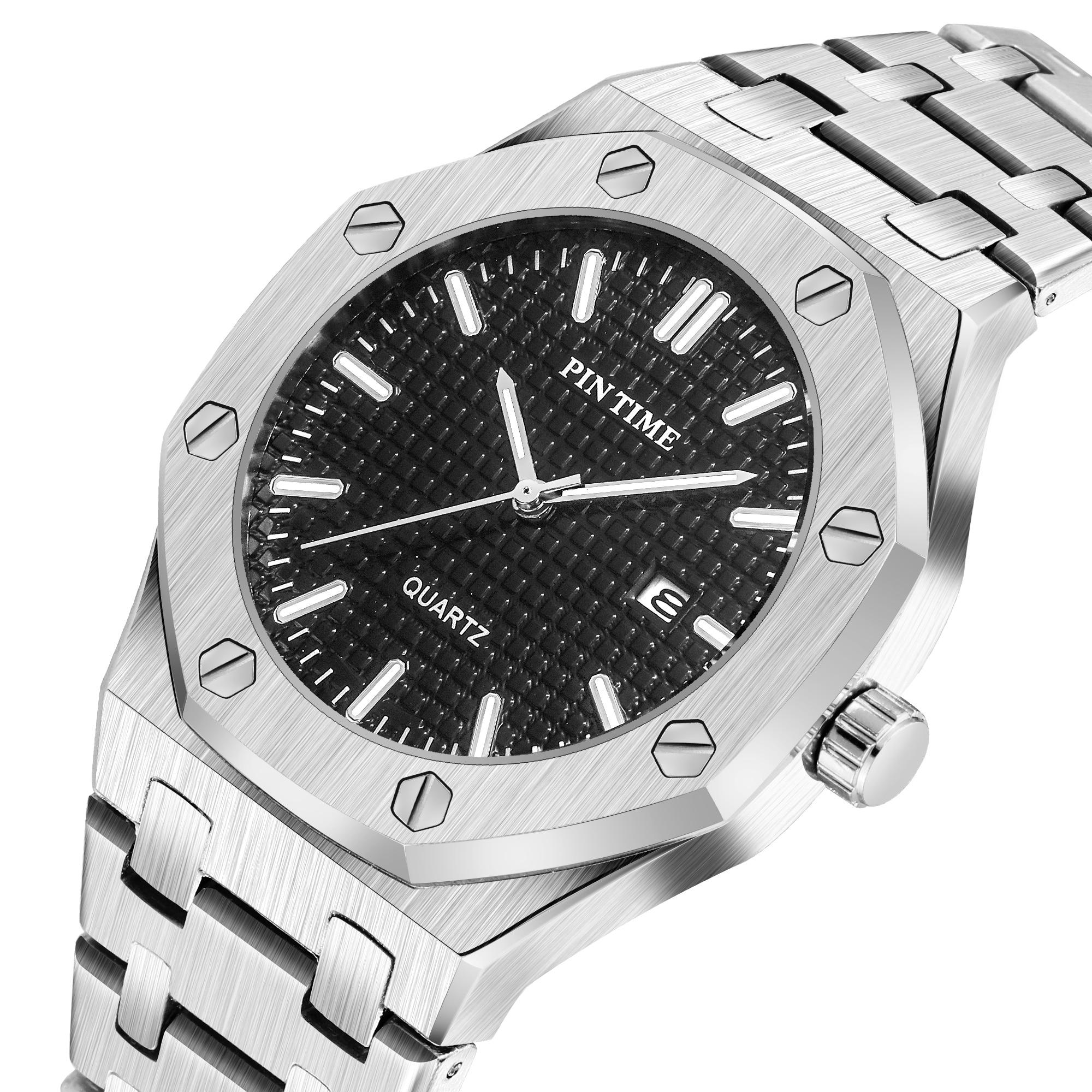 Gold Mens Watches Top Brand Luxury Men's Fashion Simple Quartz Watch Men Sport Steel Date Clock Relogio Masculino Reloj Hombre
