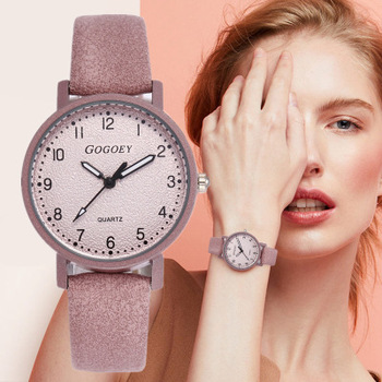 Retro Design Women Watches Leather Band Quartz Wrist Watch Top Brand Luxury Fashion Clock Saat Drop Shipping montre femme image