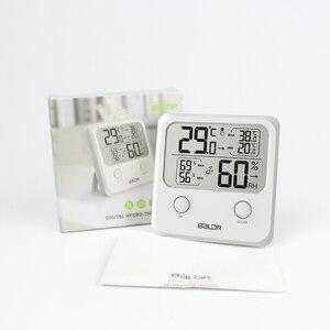 Marca Mini LCD termómetro Digital transparente higrómetro blanco precisión pared imán interior temperatura humedad tendencia Monitor dispositivo