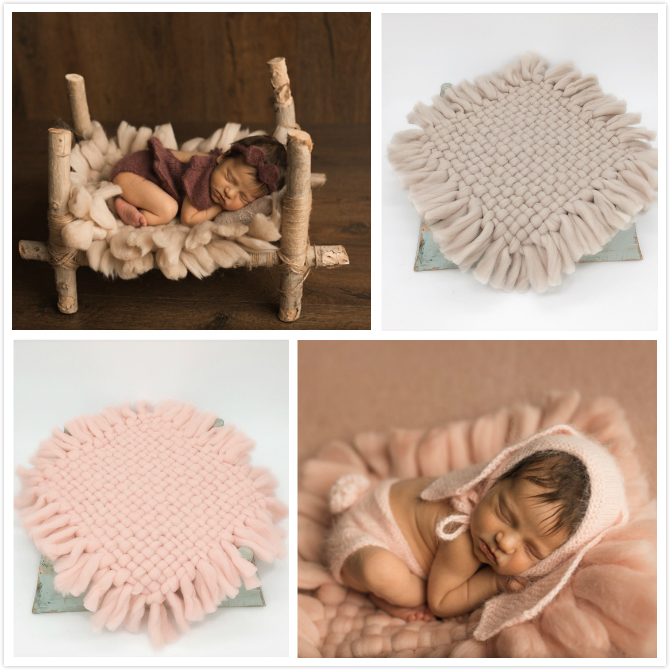 Photography Props Background Blanket One Hundred Days Newborn Baby Pictures Coarse Thread Woven Blankets