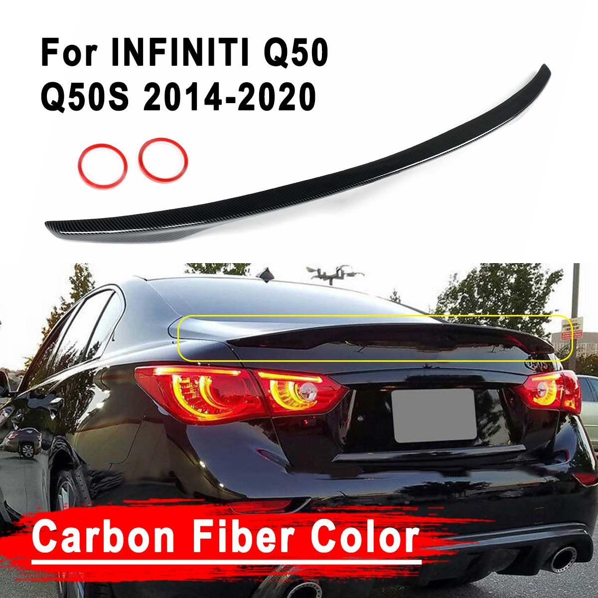 Ala pintada de fibra de carbono Color ABS alerón de la tapa del maletero para INFINITI Q50 2014-2020 para Jdm VIP