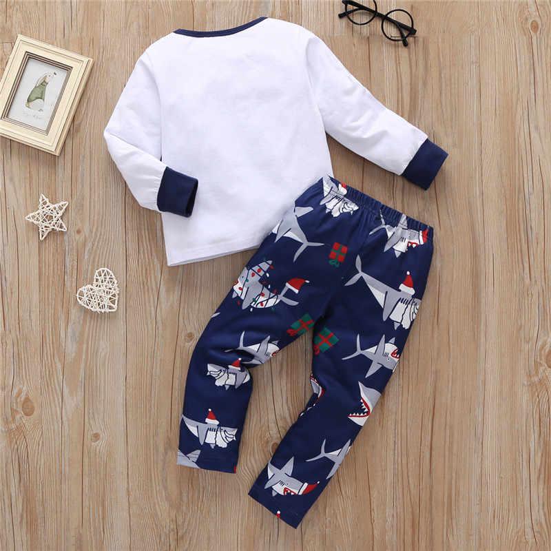 LONSANT 幼児服女の赤ちゃんの服セット 2019 秋冬クリスマス服 tシャツ + パンツ衣装衣装スーツパジャマ
