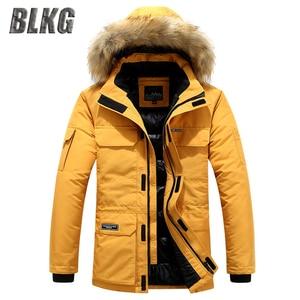 2020 inverno canadá para baixo parkas jaqueta masculina moda gola com capuz com casaco de pele manter quente engrossar casaco M-6XL roupas masculinas