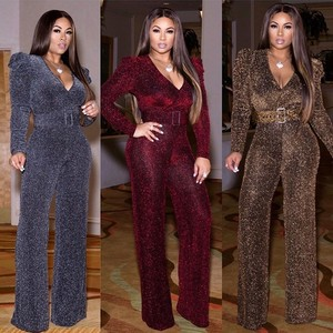 Image 1 - African Clothes For Women 2020 Design Bazin Dashiki For Lady Jumpsuit Elegant Stylish Jumpsuit Female Overalls Africa Clothing