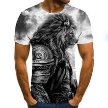 Camiseta nova do verão 2020, camiseta masculina do leão, camiseta animal, camiseta engraçada do sexo, camiseta apertada com impressão 3d, camiseta do hip-hop