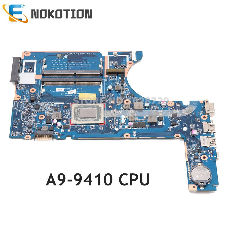 NOKOTION 860030-001 907358-601 809001-002 for <font><b>HP</b></font> 445 g4 <font><b>455</b></font> g4 Laptop <font><b>Motherboard</b></font> DAX93AMB6G0 A9-9410 CPU DDR3 image