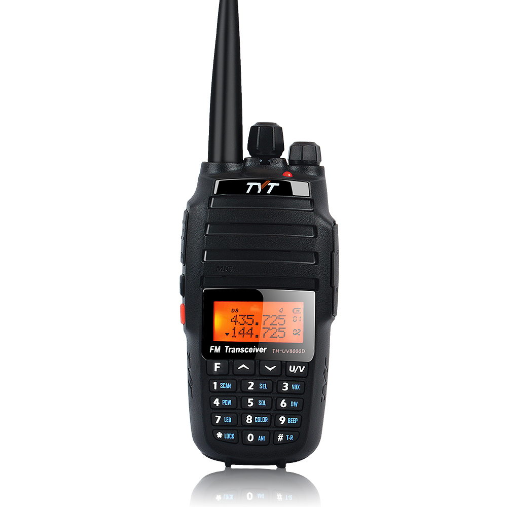 TYT TH-UV8000D 10W Walkie Talkie Dual Band 136-174MHz & 400-520MHz Ultra-high Output Power Amateur Handheld Two Way Radio 128CH