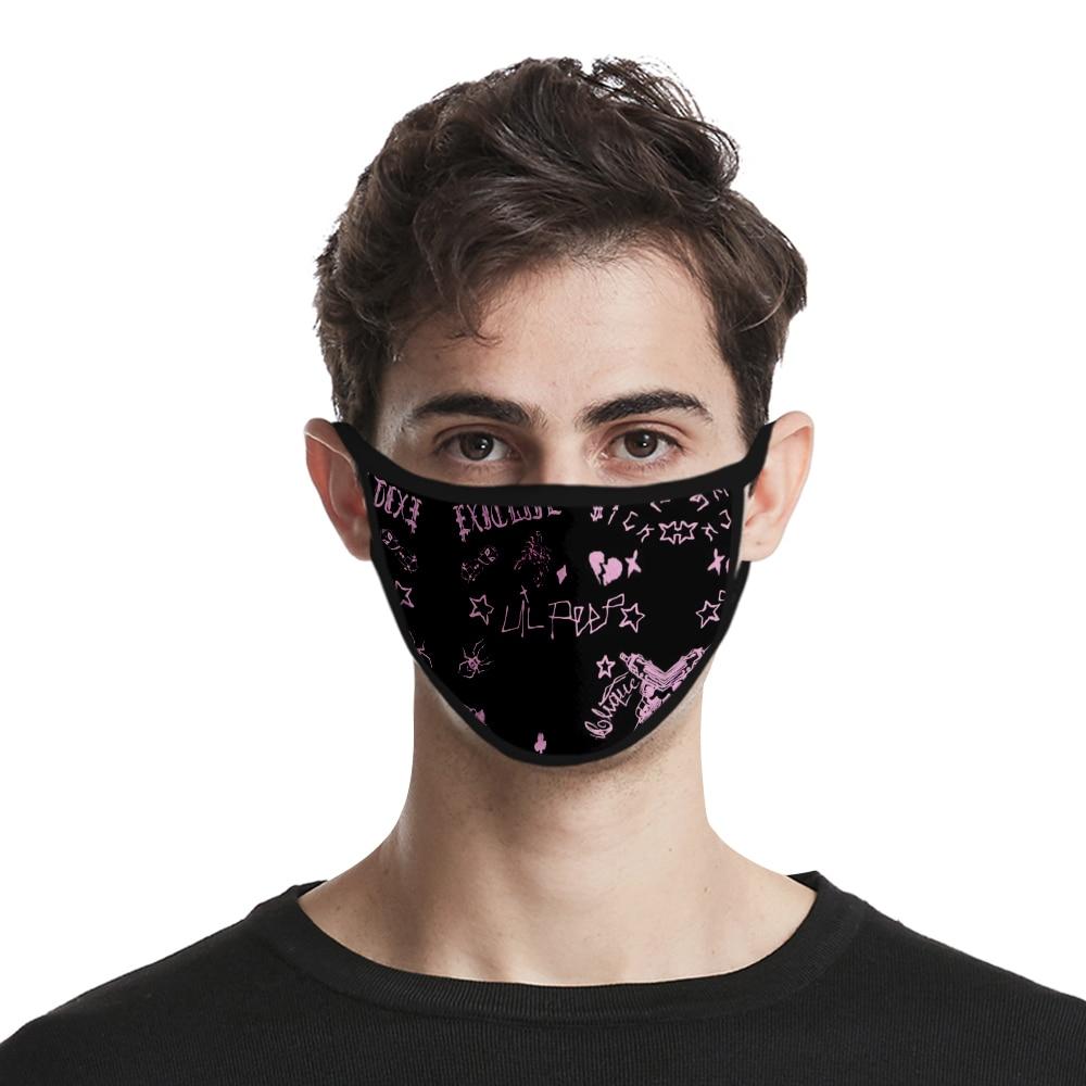 Lil.peep Face Masks Men/women Fashion Hot 3D Mouth Mask Harajuku Cosplay Reusable Lil Peep Design Party Washable Mask