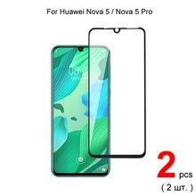 2 шт для huawei nova 5 pro / Полное покрытие закаленное стекло