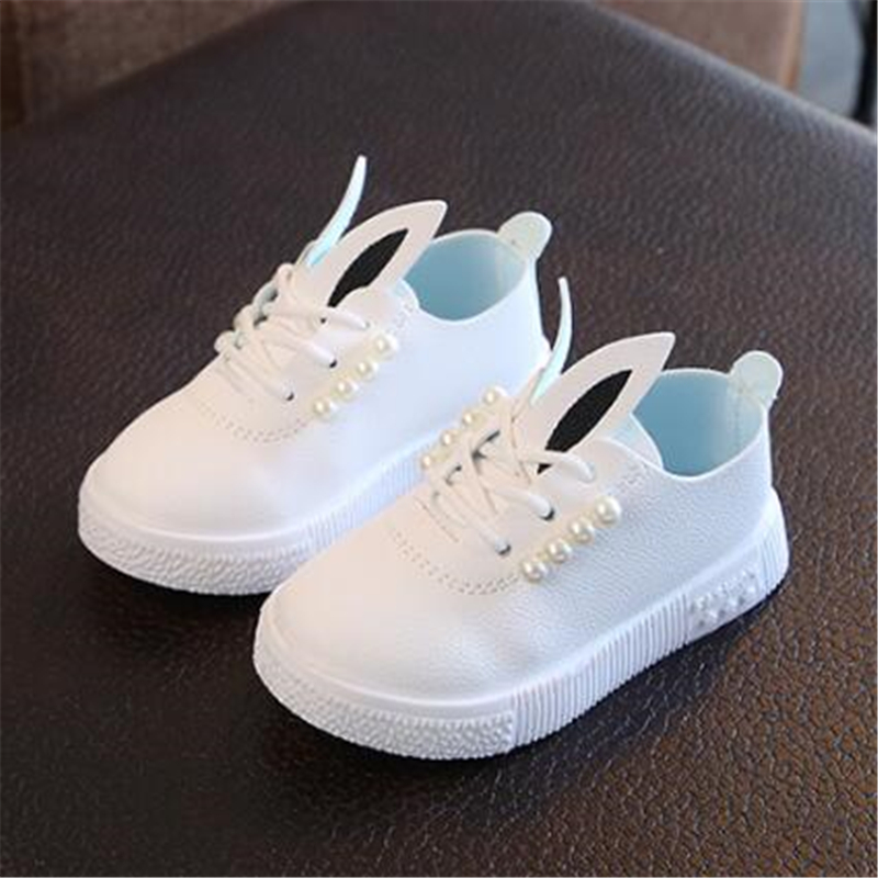 Spring Children Flats Autumn Girls Beaded Princess Shoes Soft Sneakers Kids Casual Shoes Loafers Toddler Shoes 06A