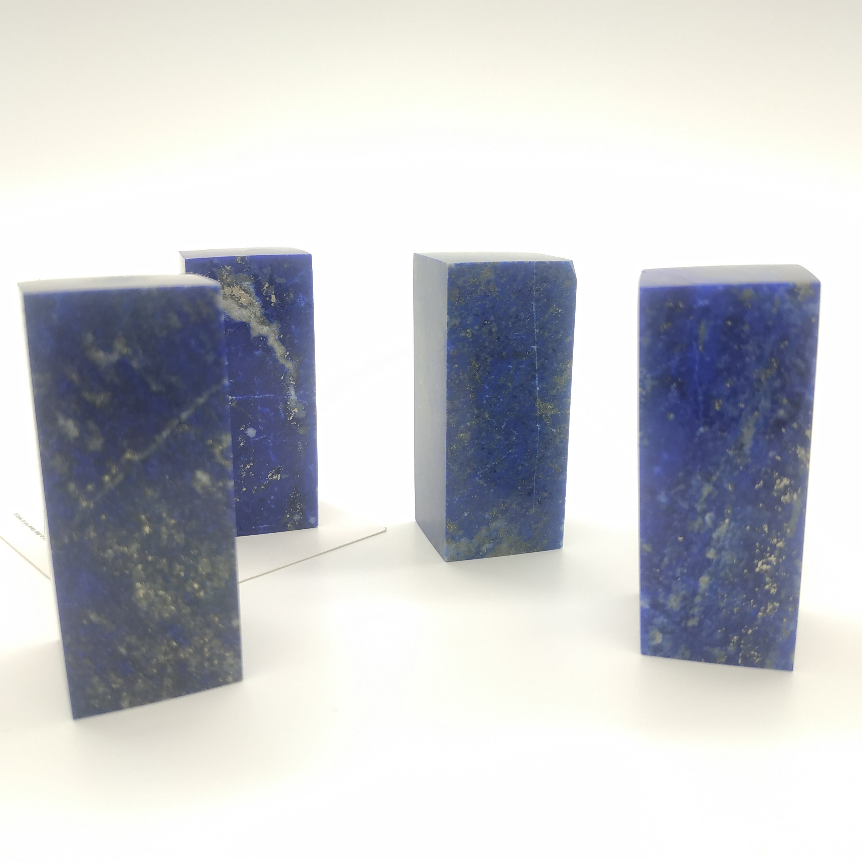 Natural Crystal Stone Lapis Lazuli Cuboid Paperweight Healing Stone