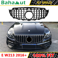 Vertical Bars Front Grille for Mercedes Benz New E Class W213 E200 E300 E320 2016+ Car Styling for E63 AMG GTR GT R Grille Style