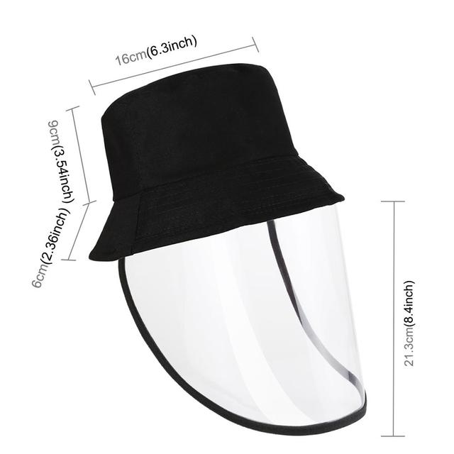 Outdoor protective cap & Anti-Saliva Splash Safety Face Shield Removable Full Face Cover Hat 4