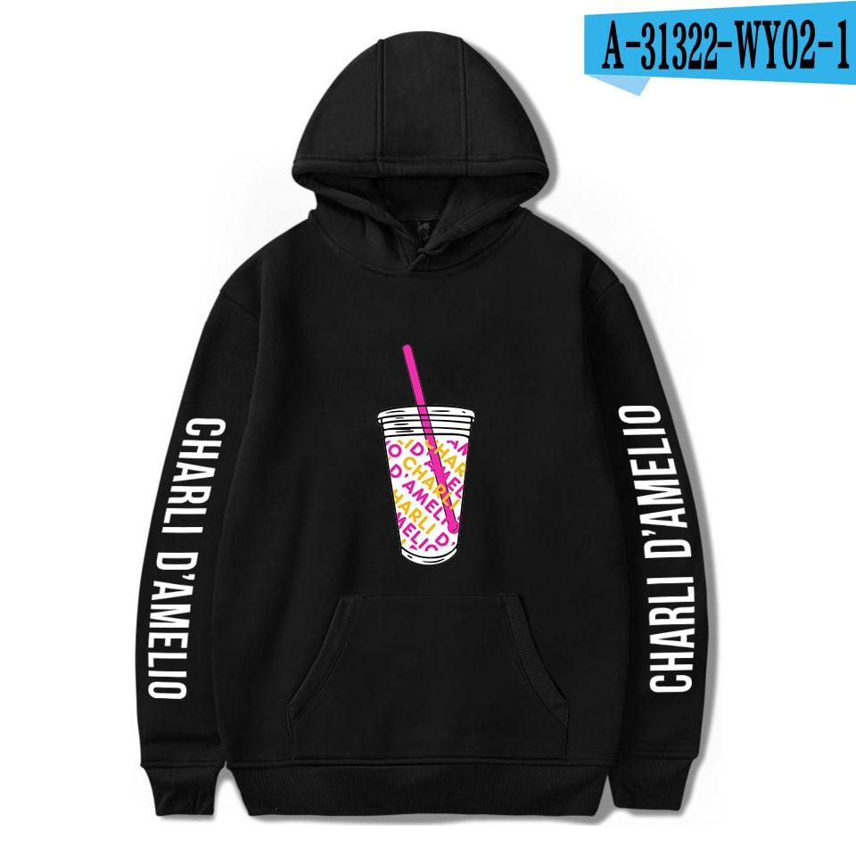 Charli Damelio Merch Print Ice Coffee Splatter Hoodie Women Men Sweatshirt Harajuku Hoodies Long Sleeve Tracksuit Pullover Womam 22