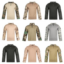 Военная камуфляжная Мужская рубашка 12 цветов хлопковая армейская