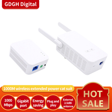 Glvision GLPH5 1000Mbps Kit Gigabit Power Line Adapter Powerline Network Adapter AV1000 Ethernet Plc Adapter Iptv Homeplug AV2