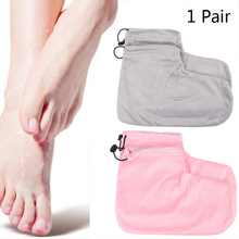 1 Pair Wax Foot Glove Paraffin Heat Wax Spa Foot Protection Gloves Warmer Pedicure Manicure