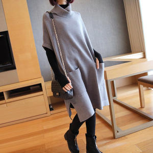 2020 New Spring Knitted Jumper Dress Ladies Short Sleeve Gray Black Red Casual Dress Women Cotton Knit Short Dress Elegant Robe