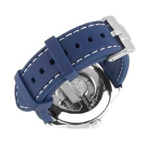 Image 4 - 20 Mm 22 Mm Universal Siliconen Horloge Bands Voor Seiko Sport Rubber Voor Breit Ling Band Horlogeband Voor Samsung gear S3 Armband Blauw