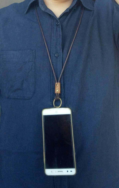 Tikigogo Asli Kulit Leher Tali untuk Ponsel Kunci Tombol Kerja Kartu Pemegang Kamera Dll Leher Tali Lanyard Gantungan Kunci