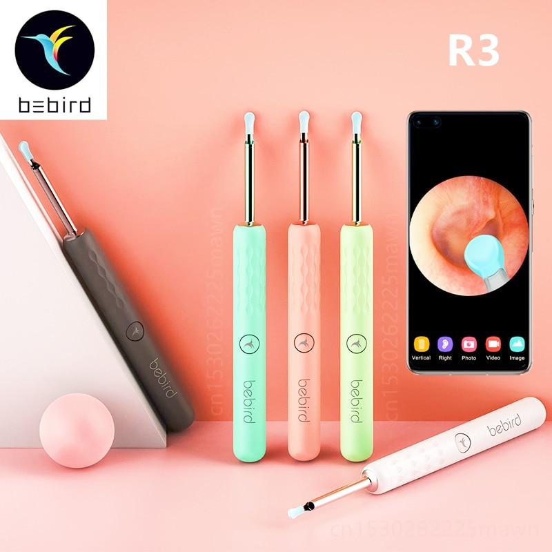 Bebird r1 r3 inteligente visual orelha varas endoscópio 300w alta precisão earpick mini câmera otoscópio cuidados de saúde orelha mais limpo 5