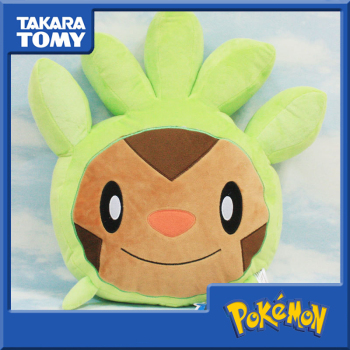 2020 New Electric Shock Pokemon Elf Chespin Pillow Plush Doll Action Figure Pokemon Plush for Children Toy image