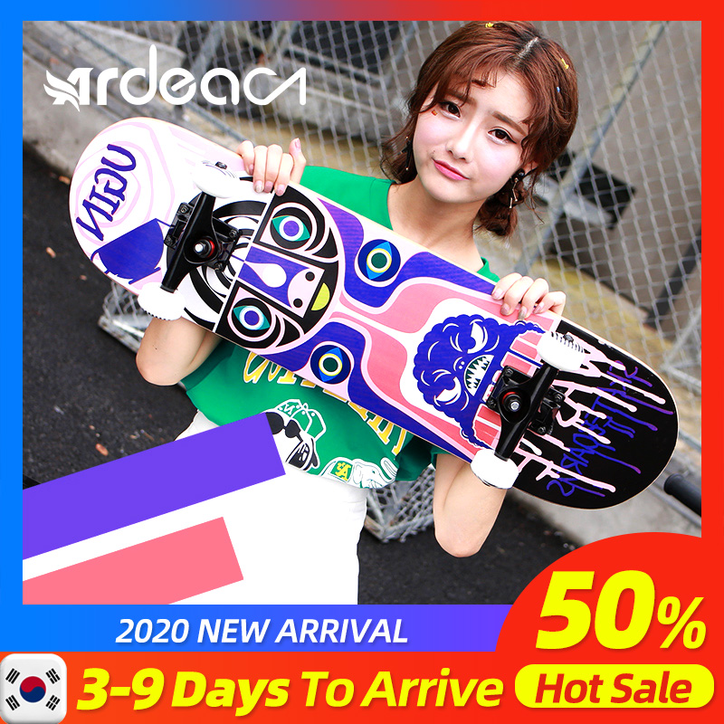 Skateboard Adult Truck Children Teenagers Girl Longboard Maple Natural Wood Four-Wheels Abec-9 Magnesium Retro Double-Concave