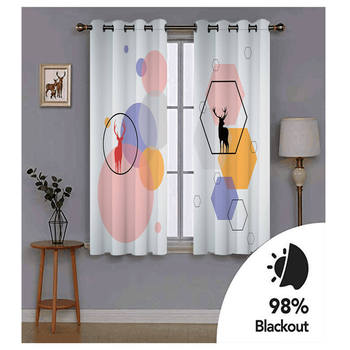 3D Window Curtain Color dot polygon Pattern Luxury Blackout Living Room office Bedroom Customized size