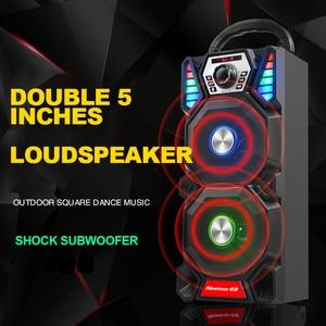 Image 5 - Newmine A1 Draagbare Dj Speler Draadloze Bluetooth Outdoor High Power Party Led Light Audio Subwoofer Luidsprekers Ondersteuning Computer