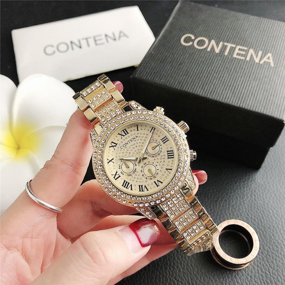 CONTENA Diamond Three Small Dial Women's Fashion Delicate Watch