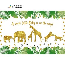 Gold Safari Birthday Party A Sweet Baby Is On The Way Animal Tree Leave Banner Photo Backdrops Photo Background For Photo Studio doiy календарь для беременных baby on the way