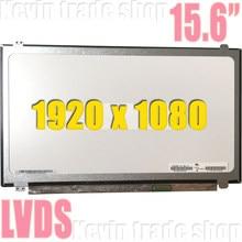 UM grau 15.6-polegada tela de LCD B156HTN03.3 B156HTN02.1 N156HGE-LA1 N156HGE-LB1 B156HW03 40 B156HTN03.4 1920*1080 LVDS pinos
