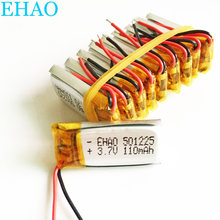 Hurtownie 10 sztuk 3.7 V 110 mAh 501225 Litowo-polimerowa LiPo akumulator do Mp3 Mp4 PAD DVD słuchawki bluetooth 051225