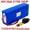 60V 20ah 21700 16s4p Elektrische roller bateria 60v 20AH Elektrische Fahrrad Lithium-Batterie pack 1000W 2000W ebike batterien