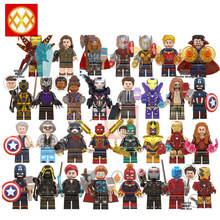 Avengers lEGOED Endgame Super hero Infinity Guerra marvel Iron Man Thor Black Panther MINIFIGURED Loki Building Blocks Giocattoli Del Capretto(China)