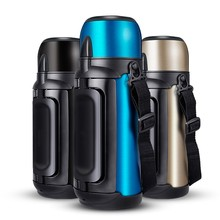 1.5L / 2L304 Stainless Steel Thermos Portable Outdoor Travel Sports Mountaineering Personality Large Capacity Vacuum Po